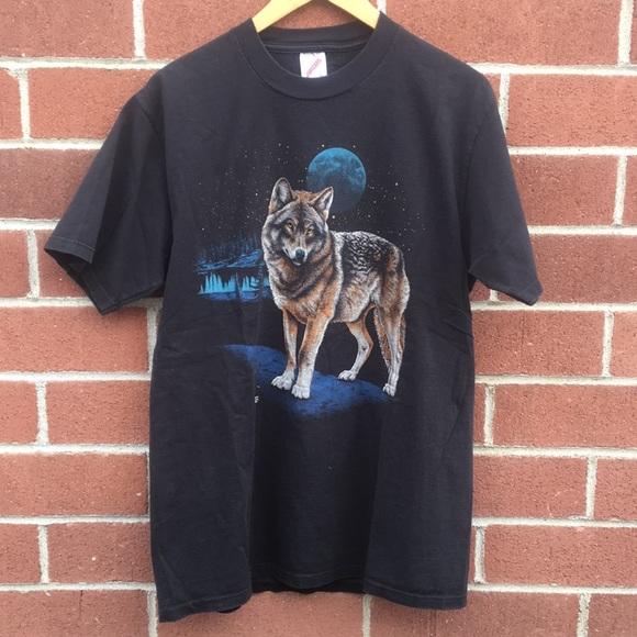 Vintage Tops - Vintage Wolf T-Shirt